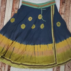 Soft Surroundings Boho Tie Dye Full Size Skirt